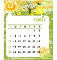 calendar april vector image vector image