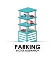 parking building design vector image