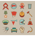 Soviet icons color vector image