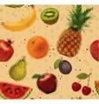 Pattern pixel fruits kraft vector image