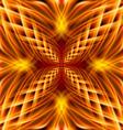 Golden pattern on the black background vector image vector image