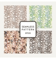 Set of seamless patterns of colored contour vector image