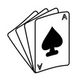 ace of spades icon image vector image