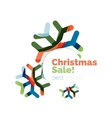 Christmas geometric abstract sale promo banner vector image