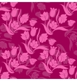 Floral seamless texture with tulips vector image