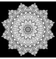 Mandala tattoo Arabic Indian asian vector image
