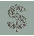 Arrow dollar2 vector image