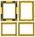 ornate gold and black frames vector image vector image