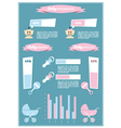 Detail info graphic with baby symbols vector image vector image