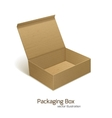 Paper packaging box vector image vector image
