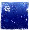 grunge winter background vector image