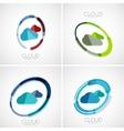 Cloud storage logotype set 3d minimal design vector image vector image