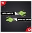 Halloween monster party vector image vector image