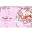 colorful spring background vector image vector image