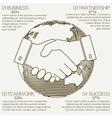 business infographics handshake vector image