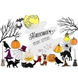 Colors HalloweenCard vector image