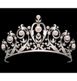 Diadem with pearls vector image
