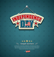 Independence day American signs background vector image