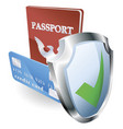 personal identity security vector image