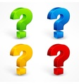 Question mark set vector image