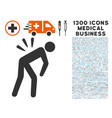sciatica back pain icon with 1300 medical business vector image