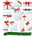 Set of gift bows for Christmas and New Year vector image