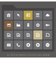 Simple web icons collection flat gray serie vector image