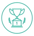 Trophy line icon vector image