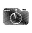 hand draw photographic camera digital vector image vector image