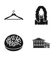 furniture cooking and or web icon in black style vector image