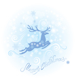 Christmas and New Year card with reindeer vector image