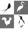 Bird Icon Set vector image vector image