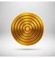 Gold Technology Circle Metal Badge vector image vector image