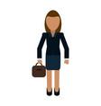 business woman avatar full body vector image
