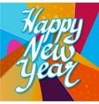 Happy New Year with snowflake vector image