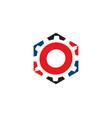 hexa gear logo vector image
