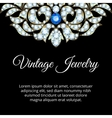 Jewelry vintage card vector image