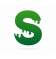 Letter S logo or symbol icon vector image