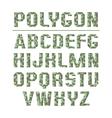 Low polygon sans serif font vector image