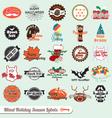 Mixed Holiday Labels vector image