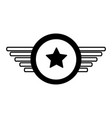 navy medal with wings vector image