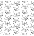origami paper bird pattern vector image