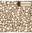 Seamless texture of ivory and grey tiles wall vector image