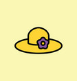 sun hat icon thin line on color background vector image