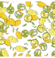 Seamless pattern with lemons background of fruits vector image