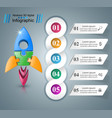 rocket icon abstract infographi vector image