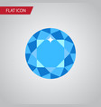 isolated brilliant flat icon diamond vector image