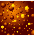 bubbles sphere brown yellow background vector image