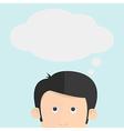The head thinking cartoon vector image
