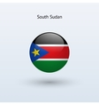 South Sudan round flag vector image